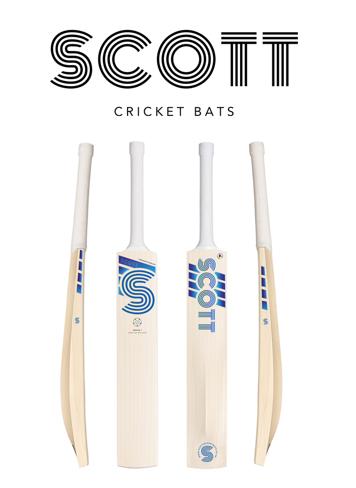 Scott Cricket bat sticker design